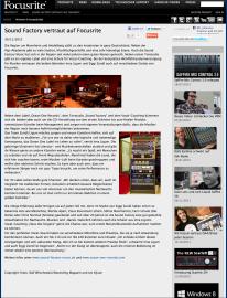 Sound Factory ist Endorser von Focusrite