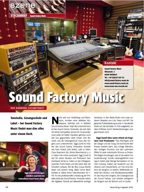 Recording Magazin, 3/2012